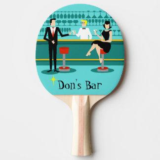 Retro Bar-Klingeln Pong Paddel Tischtennis Schläger