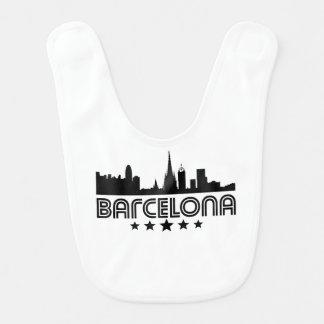 Retro Barcelona-Skyline Lätzchen