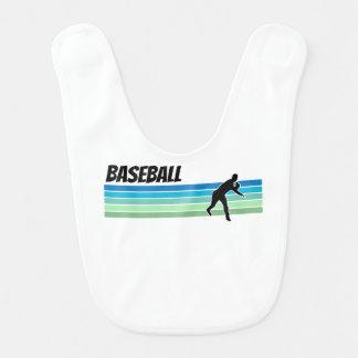 Retro Baseball Babylätzchen