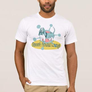 Retro Basset Hound-Aufenthaltsraum T-Shirt