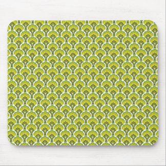 Retro Baummuster - Grün Mousepad