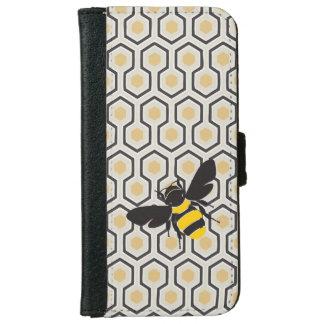 Retro Bienenwaben-Muster-Bienenstock Geldbeutel Hülle Für Das iPhone 6/6s