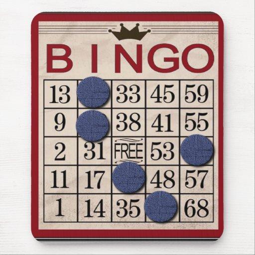 Retro Bingo-Karte Mauspads