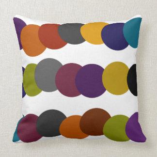 Retro Blasen-Mehrfarbengraphik Kissen