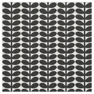 Retro Blatt-Muster, Fünfzigerjahre Flora, Stoff