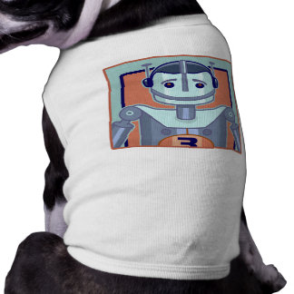 Retro blaue Roboter-Kinder Shirt