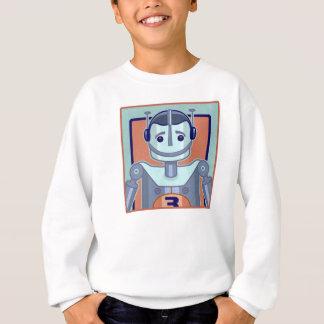 Retro blaue Roboter-Kinder Sweatshirt