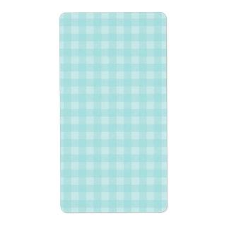 Retro blauer Gingham-karierter Muster-Hintergrund