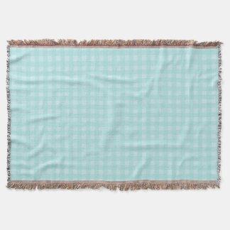 Retro blauer Gingham-karierter Muster-Hintergrund Decke