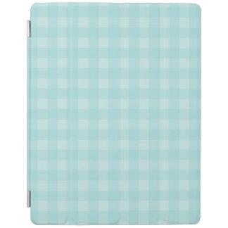 Retro blauer Gingham-karierter Muster-Hintergrund iPad Hülle