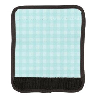 Retro blauer Gingham-karierter Muster-Hintergrund Koffergriffwickel