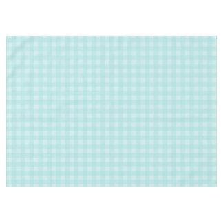 Retro blauer Gingham-karierter Muster-Hintergrund Tischdecke