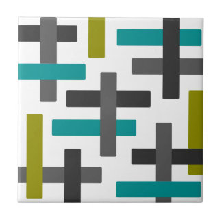 Retro blaues, grünes, graues abstraktes keramikfliese