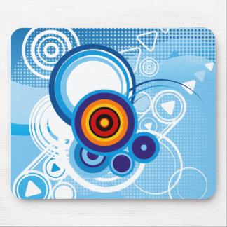 Retro blaues mousepad