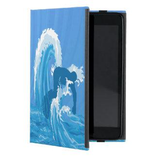 Retro Blick-Surferkunst iPad Mini Etuis