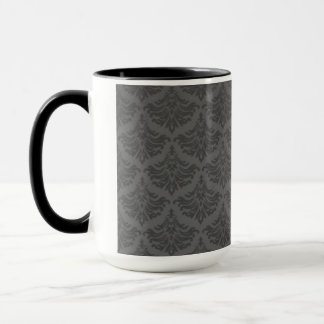 Retro blühen Sie Holzkohle Tasse