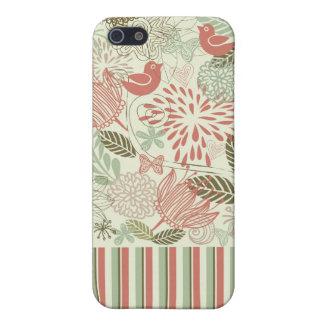 retro Blumen iPhone 5 Schutzhülle