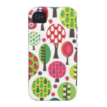 Retro Blumenapfel-Schmetterlingsmuster iphone Fall Case-Mate iPhone 4 Hülle