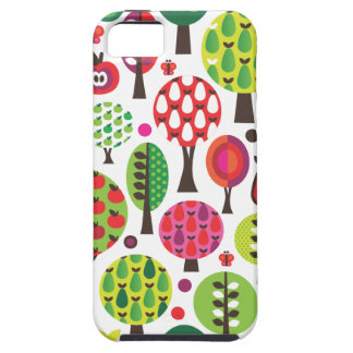 Retro Blumenapfel-Schmetterlingsmuster iphone Fall iPhone 5 Hülle