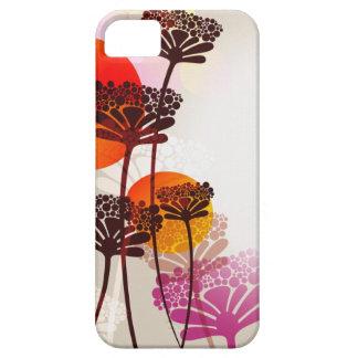Retro Blumenfall iPhone 5 Etuis
