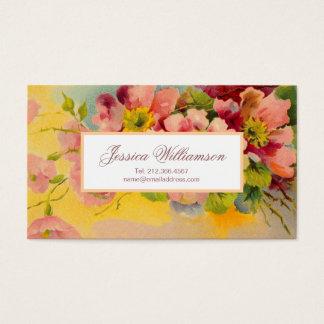 Retro Blumenfünfziger jahre Primel-Entwurf Visitenkarte