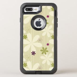 Retro Blumenhintergrund OtterBox Defender iPhone 8 Plus/7 Plus Hülle
