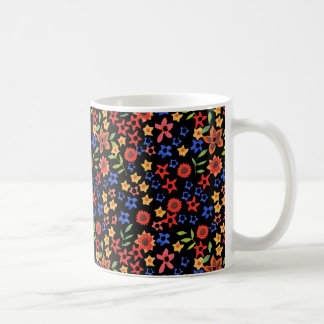 Retro Blumenminiprint-kundenspezifische Kaffeetasse