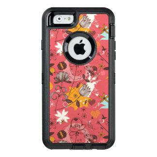 Retro Blumenmuster 4 OtterBox iPhone 6/6s Hülle
