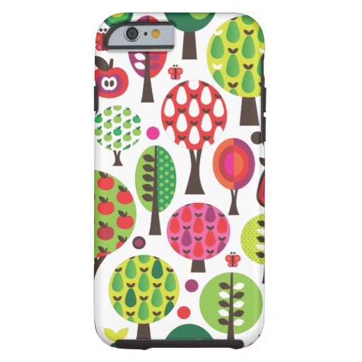 Retro Blumenschmetterlingsmuster iPhone 6 Fall Tough iPhone 6 Hülle
