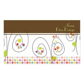 Retro Blumenstrauß mit Tupfen BusinessCard Visitenkarte