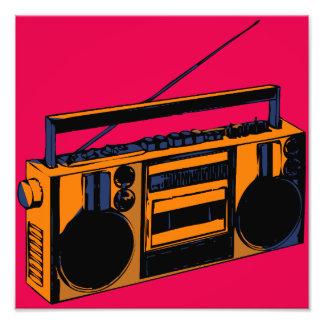 Retro Boombox Foto-Erweiterung Pop-Kunst Plakat