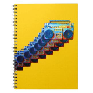 Retro Boomboxes Notizbuch