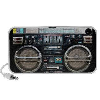 retro Boomkasten-Lautsprecher iPhone Lautsprecher