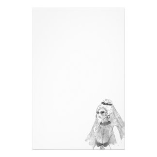 Retro Braut Briefpapier