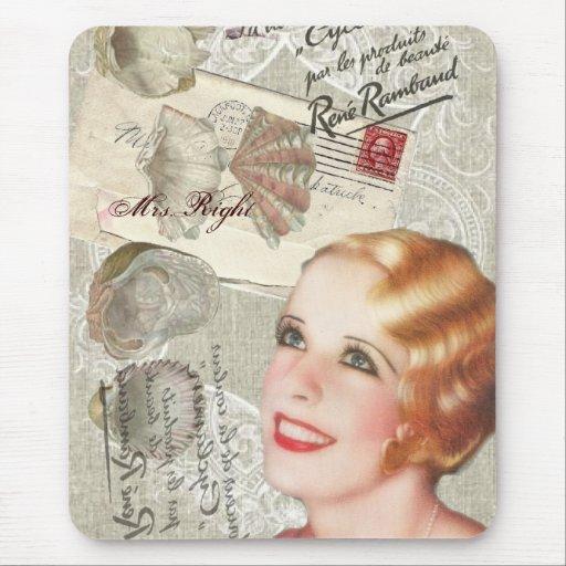 retro Brautparty Vintagen Paris-Shabby Chic Mousepad