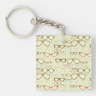 Retro Brillen-Hipster Schlüsselanhänger