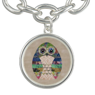 Retro bunte Eule Boho böhmische Vogel-Gewohnheit Charm Armband