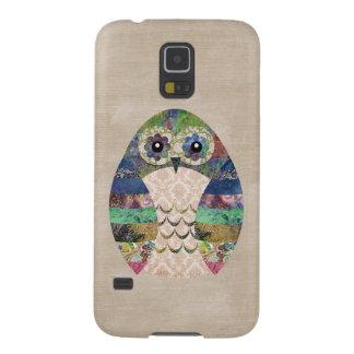 Retro bunte Eule Boho böhmische Vogel-Gewohnheit Samsung Galaxy S5 Cover