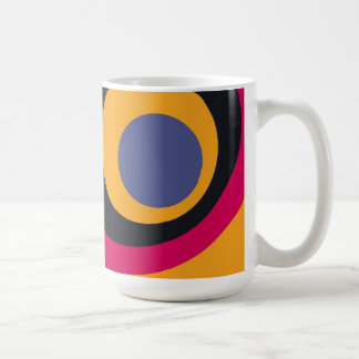 Retro bunte Jahr-abstrakte Kunst Kaffeetasse