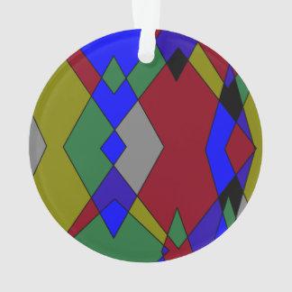 Retro bunter Diamant abstrakt Ornament