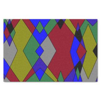Retro bunter Diamant abstrakt Seidenpapier