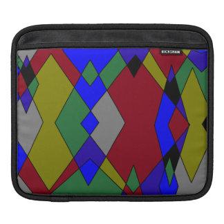 Retro bunter Diamant abstrakt Sleeve Für iPads