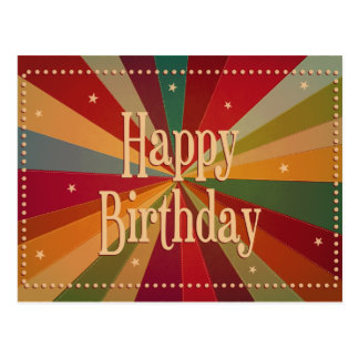 Retro bunter Sunbeam - Geburtstags-Karte Postkarten