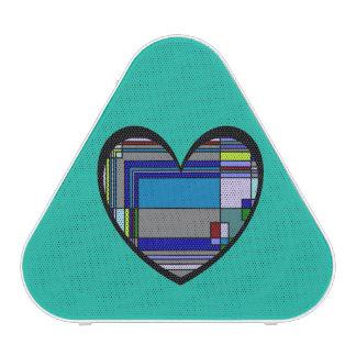 Retro buntes Herz abstrakt Bluetooth Lautsprecher