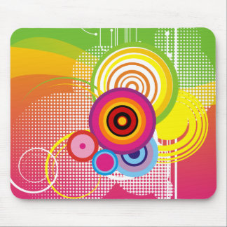 Retro buntes mousepad