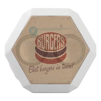 Retro Burger Weiße Bluetooth Lautsprecher
