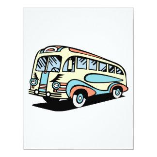 Retro Bus-Autobus Karte