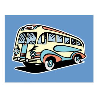 Retro Bus-Autobus Postkarte