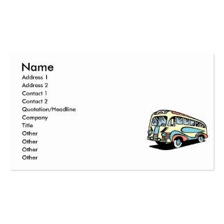 Retro Bus-Autobus Visitenkarten