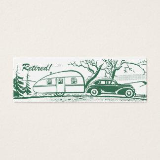 Retro Camper-Telefonkarte Mini Visitenkarte